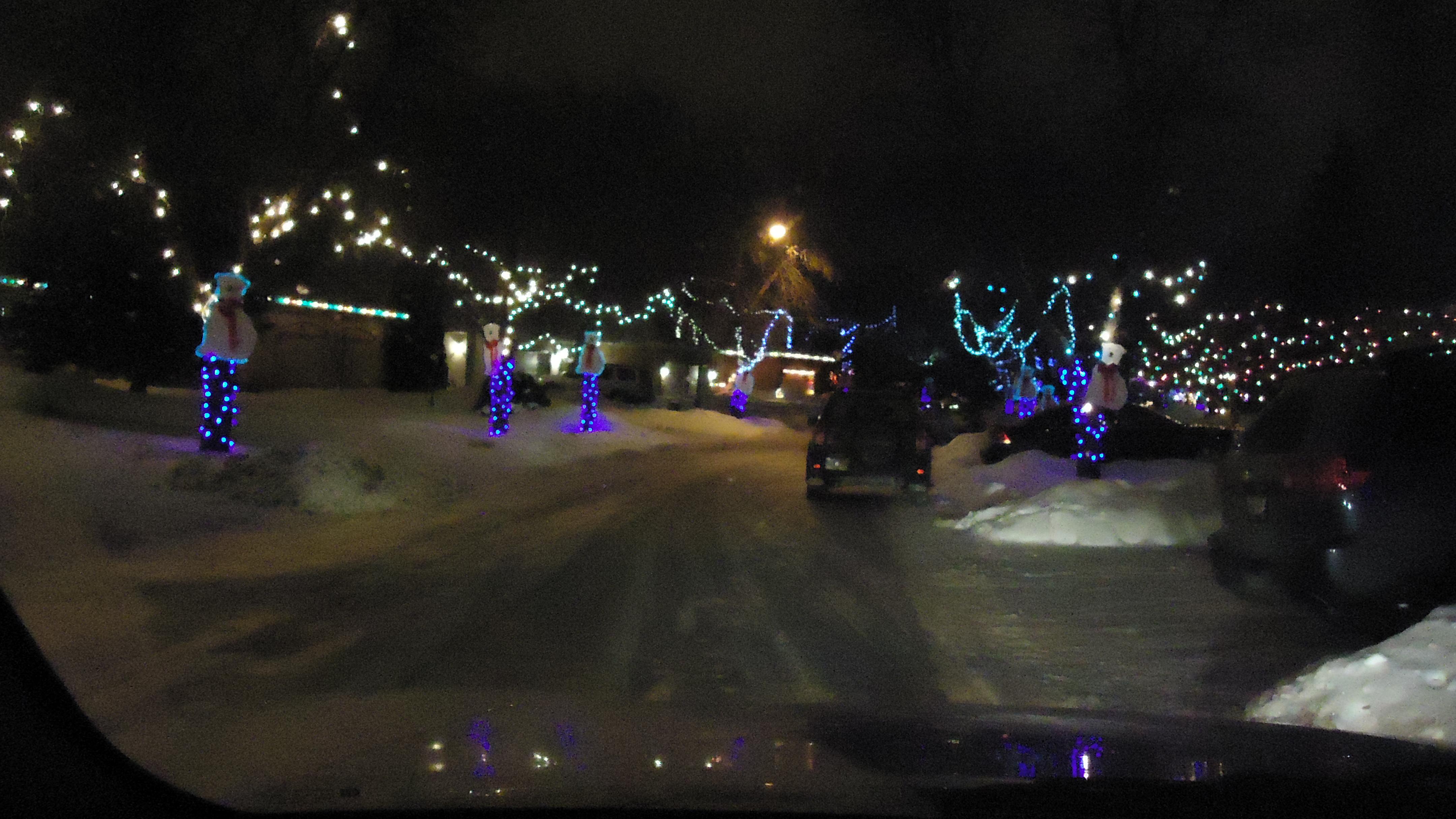 driving down polar bear lane christmas eve
