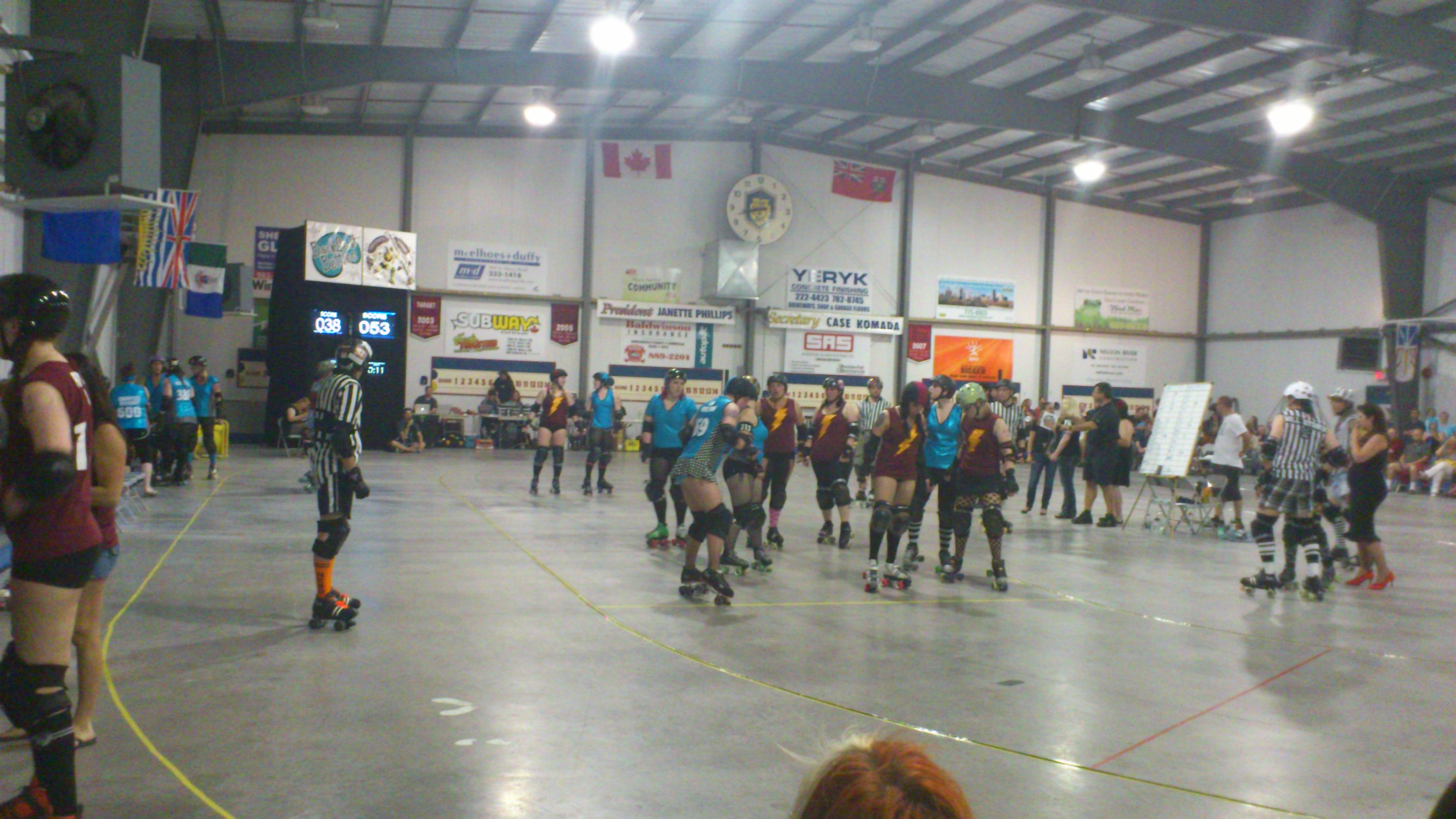 Roller skates winnipeg - The Valkyries Wrath Line Up Against The Backseat Betties