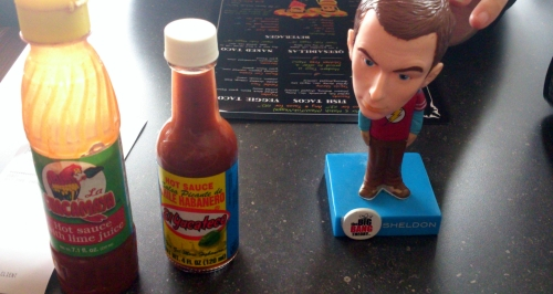 Bobble Head and Hot Sauce.