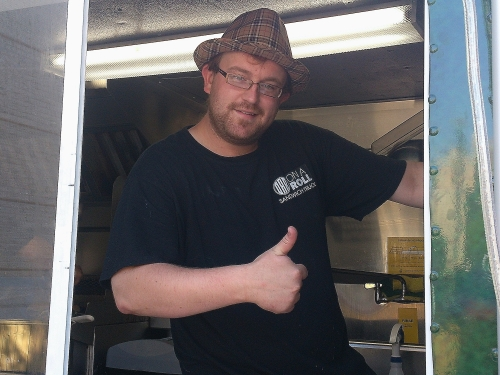 Chef Brendan Orr of the On a Roll Sandwich Truck.