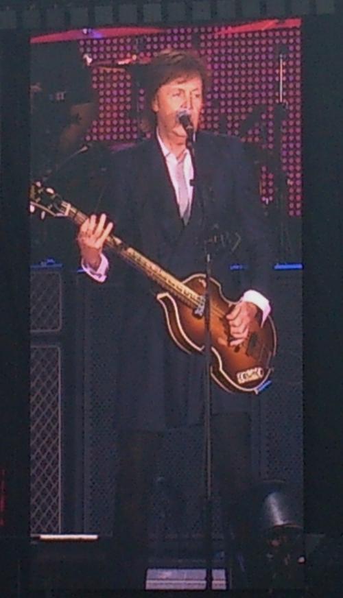 Paul McCartney on stage in Winnipeg