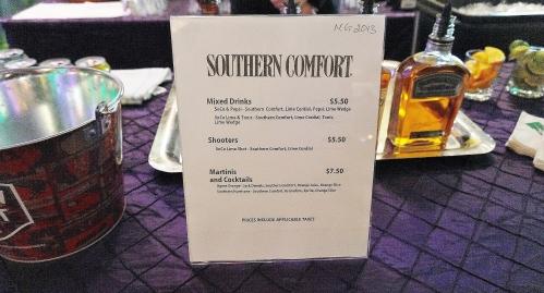 Southern Comfort Menu