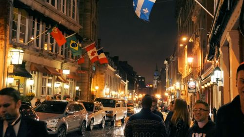Crowded Streets in Old Montreal