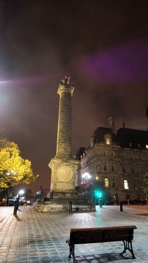 Plinth at Night in Purple Redux
