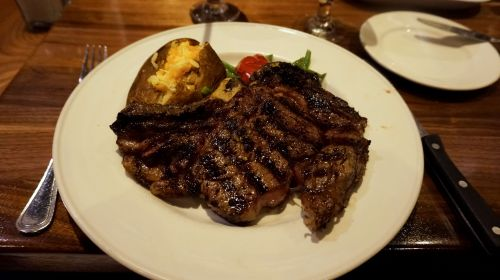 Ribeye steak with Baked Potato