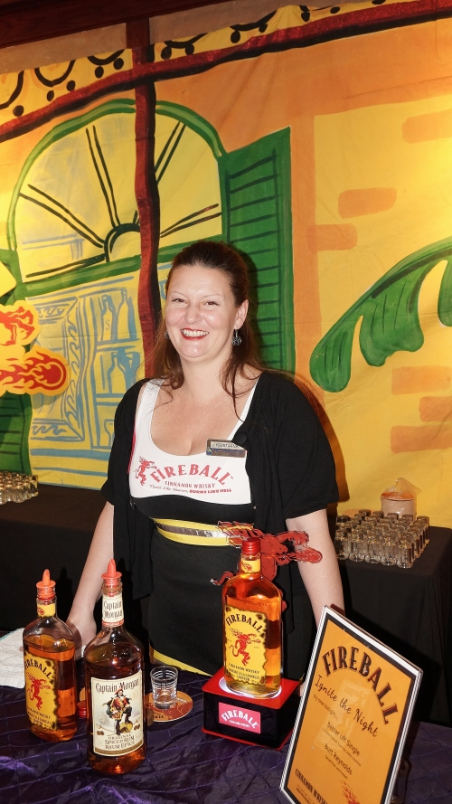 Come visit Kristjana the Fireball Girl at Mardi Gras
